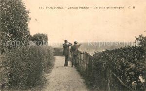 AK / Ansichtskarte Pontoise_Val d_Oise Jardin Public Un coin pittoresque