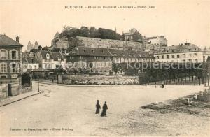 AK / Ansichtskarte Pontoise_Val d_Oise Place du Bucherel Chateau Hotel Dieu