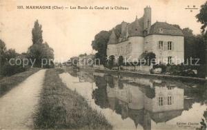 AK / Ansichtskarte Marmagne_Cher Bords du Canal Chateau Marmagne Cher