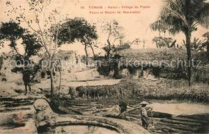 AK / Ansichtskarte Hanoi Tonkin Village du Papier Fours Bassin de Maceration Hanoi