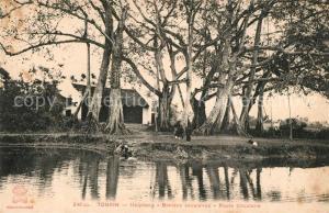 AK / Ansichtskarte Haiphong Tonkin Banians seculaires Haiphong