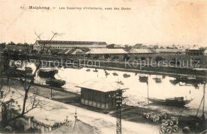 AK / Ansichtskarte Haiphong Casernes Infanterie Docks Haiphong