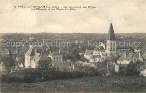 AK / Ansichtskarte Preuilly sur Claise Eglise Hospice Ecole des Filles Preuilly sur Claise