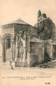 AK / Ansichtskarte Aiguilhe Temple de Diane Rocher Saint Michel Aiguilhe