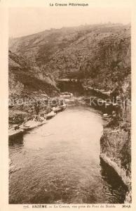 AK / Ansichtskarte Anzeme La Creuse vue prise du Pont du Diable Anzeme