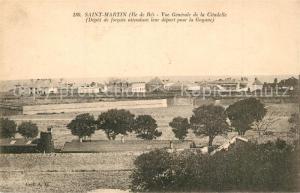 AK / Ansichtskarte Saint Martin de Re Vue generale de la Citadelle Saint Martin de Re