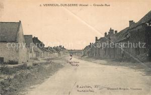 AK / Ansichtskarte Verneuil sur Serre Grande Rue Verneuil sur Serre