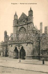 AK / Ansichtskarte Treguier_Cotes_d_Armor Portail de la Cathedrale Treguier_Cotes_d_Armor
