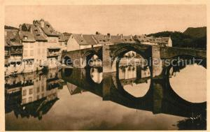 AK / Ansichtskarte Espalion Pont vieux et le Lot Espalion