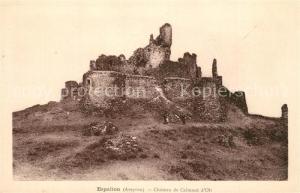 AK / Ansichtskarte Espalion Ruines du Chateau de Calmont d Olt Espalion