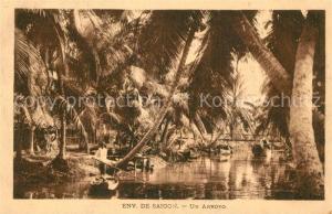 AK / Ansichtskarte Saigon Un Arroyo saigon