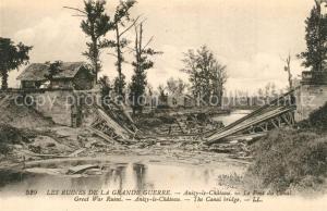 AK / Ansichtskarte Anizy le Chateau Ruinen Pont du Canal  Anizy le Chateau