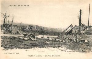 AK / Ansichtskarte Vailly sur Aisne Pont Ruines Vailly sur Aisne