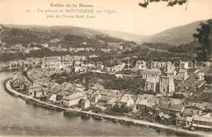 AK / Ansichtskarte Montherme Vue generale vers l Eglise prise du Chemin Saint Louis Vallee de la Meuse Montherme