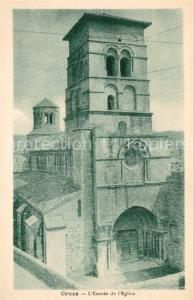AK / Ansichtskarte Cruas Entree de l Eglise Cruas