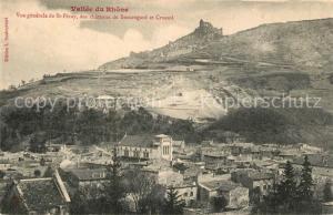 AK / Ansichtskarte Saint Peray Panorama Vallee du Rhone Chateaux Beauregard et Crussol Saint Peray