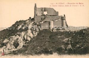 AK / Ansichtskarte Saint Peray Perspective des ruines de l ancien Chateau feodal de Crussol Saint Peray