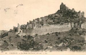 AK / Ansichtskarte Valence_Drome Les Ruines de Crussol Ancien Chateau Valence_Drome