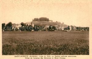 AK / Ansichtskarte Saint Agreve Station estivale Villas de l Avenue des Cevennes et Mont Chiniac Saint Agreve
