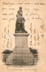 AK / Ansichtskarte Villeneuve de Berg Statue d Olivier de Serres Monument Villeneuve de Berg