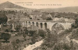 AK / Ansichtskarte Privas Pont d Ouveze et Mont Toulon Privas