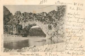 AK / Ansichtskarte Besancon_Doubs Pont d Arc Besancon Doubs
