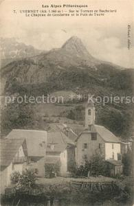 AK / Ansichtskarte Uvernet Fours Vue d ensemble Eglise Alpes Uvernet Fours