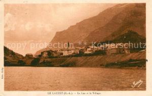 AK / Ansichtskarte Le_Lauzet Ubaye Lac du Lauzet et le village Le_Lauzet Ubaye