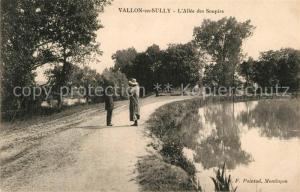 AK / Ansichtskarte Vallon en Sully Allee des Soupirs Vallon en Sully