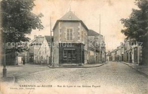 AK / Ansichtskarte Varennes sur Allier Rue de Lyon et Rue Antoine Fayard Varennes sur Allier