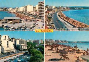 AK / Ansichtskarte El_Arenal_Mallorca Panorama Strand Hafen Hotels El_Arenal_Mallorca