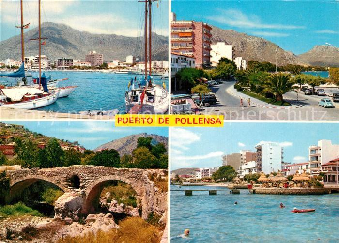 AK / Ansichtskarte Puerto_de_Pollensa Hafen Kuestenstrasse Landschaftspanorama Puerto_de_Pollensa 0