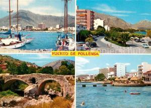 AK / Ansichtskarte Puerto_de_Pollensa Hafen Kuestenstrasse Landschaftspanorama Puerto_de_Pollensa