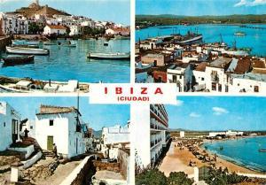 AK / Ansichtskarte Ibiza_Islas_Baleares Panorama Hafen Strand Ibiza_Islas_Baleares