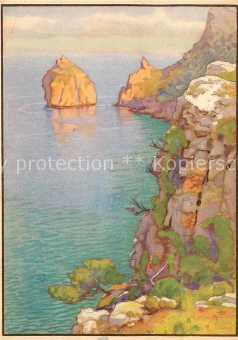 AK / Ansichtskarte Formentor Costa Norte El Colome Acuarela de Erwin Hubert Kuenstlerkarte Formentor 0