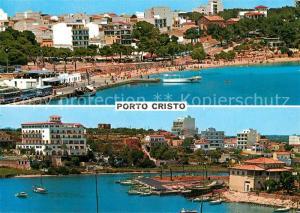 AK / Ansichtskarte Porto_Cristo Panorama Hafen Strand Porto_Cristo