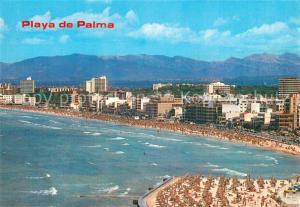 AK / Ansichtskarte Playa_de_Palma_Mallorca Panorama Strand Hotels Berge Playa_de_Palma_Mallorca