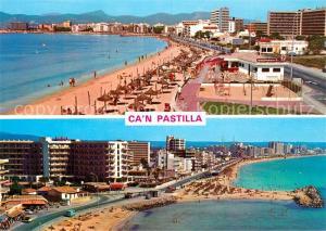 AK / Ansichtskarte Can_Pastilla_Palma_de_Mallorca Panorama Strand Hotels Can_Pastilla