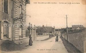 AK / Ansichtskarte Vallon sur Gee Entree par route de la Gare Vallon sur Gee