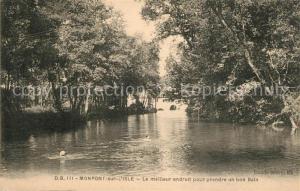 AK / Ansichtskarte Montpon_sur_l_Isle Bords de la riviere Meilleur endroit pour prendre un bain Montpon_sur_l_Isle