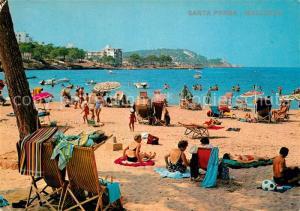 AK / Ansichtskarte Santa_Ponsa_Mallorca_Islas_Baleares Playa Strand Santa_Ponsa