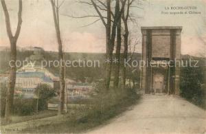 AK / Ansichtskarte La_Roche Guyon Pont suspendu et Chateau La_Roche Guyon