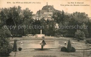 AK / Ansichtskarte Le_Puy en Velay La Fer a Cheval vue prise du Musee Crozatier Le_Puy en Velay