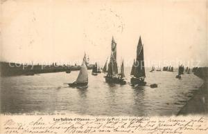 AK / Ansichtskarte Les_Sables d_Olonne Sortie du port par temps calme des voiliers Les_Sables d_Olonne