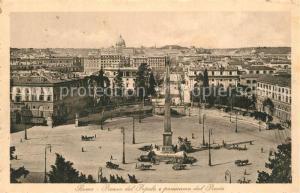 AK / Ansichtskarte Roma_Rom Piazza del Popolo e panorama dal Pincio Roma_Rom