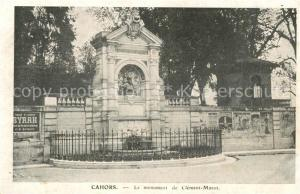 AK / Ansichtskarte Cahors Monument de Clement Marot Cahors