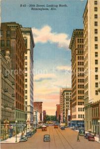 AK / Ansichtskarte Birmingham_Alabama 20th Street looking north Illustration