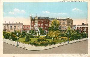 AK / Ansichtskarte Orangeburg_South_Carolina Memorial Plaza Illustration Orangeburg_South_Carolina