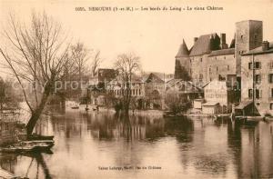 AK / Ansichtskarte Nemours_Seine et Marne Les bords du Loing Chateau Nemours Seine et Marne