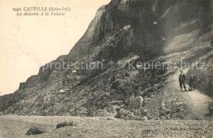 AK / Ansichtskarte Cauville sur Mer La descente a la Falaise Cauville sur Mer